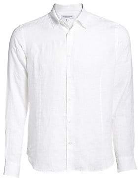 Orlebar Brown Men's Morton Tailored Cotton Button-Down Shirt