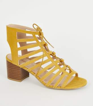 New Look Wide Fit Ghillie Lace Up Sandals