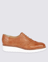 M&S Collection Leather Brogue Shoes with Insolia Flex®