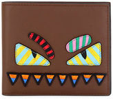 Fendi Monster Eyes Striped Wallet