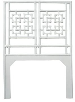 David Francis Furniture Palm Springs Open-Frame Headboard Size: Twin, Color: Bright White