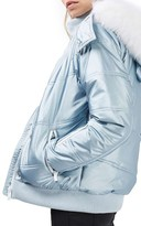 Topshop Women's Queen B Metallic Puffer Snow Jacket