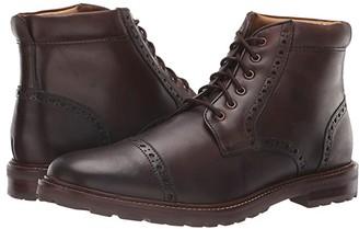 Florsheim Estabrook Cap Toe Boot (Brown Crazy Horse) Men's Lace-up Boots