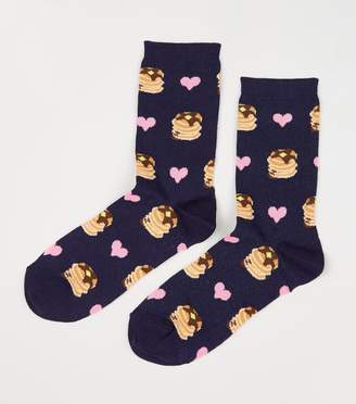 New Look Heart Pancakes Socks
