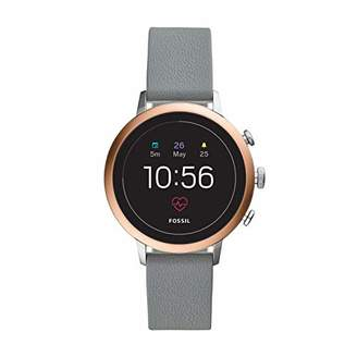 Fossil Women's Gen 4 Venture HR Heart Rate Stainless Steel and Silicone Touchscreen Smartwatch