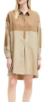 French Connection Oversized Shirt Dress, Warm Sand