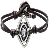 Uno de 50 Leather Silver Bracelet