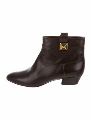 Marc Jacobs Leather Boots Brown