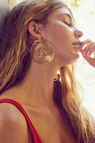 Urban Outfitters Etched Cherry Statement Hoop Earring