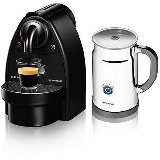 Nespresso C91 Essenza Aeroccino Espresso Maker Plus Bundle