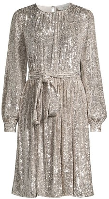 Sachin + Babi Chloe Sequin Tie Waist Shift Dress