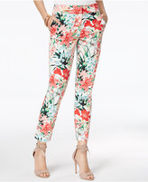 XOXO Juniors' Natalie Tropical Print Ankle Pants
