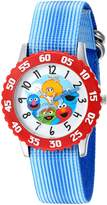EWatchFactory Boy's 'Sesame Street' Quartz Stainless Steel and Nylon Automatic Watch, Color: (Model: W003180)