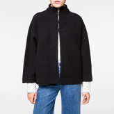 Paul Smith Women's Black Cropped Wool Cardigan-Jacket