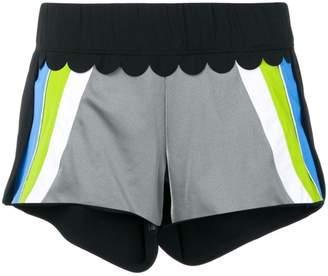 NO KA 'OI No Ka' Oi colour block track shorts