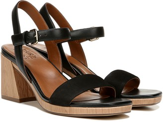 Naturalizer Leather Block Heeled Sandal - Rose