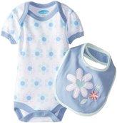 Bon Bebe Bib & Bodysuit Set (Baby) - Flowers-3-6 Months