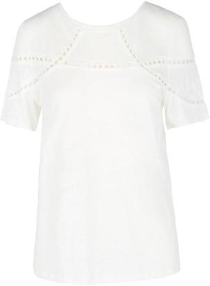 Maje Cutout Cotton-Blend T-shirt