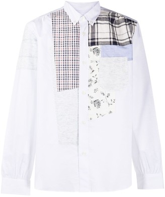 Junya Watanabe Long Sleeve Patchwork Shirt