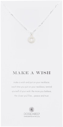 Dogeared Sterling Silver Make A Wish Donut Pendant Necklace