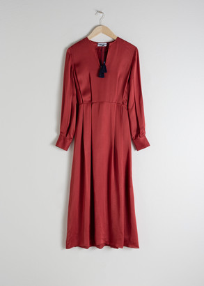 And other stories Tassel Kaftan Maxi Dress