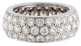 Van Cleef & Arpels Three Row Diamond Eternity Band