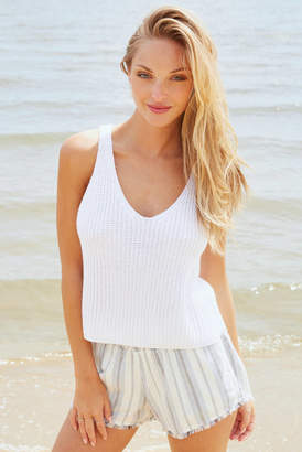 Abbeline Ivory Knit Sweater Tank Top Ivory M