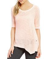 Calvin Klein Asymmetrical Jersey Top