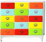 15 Drawer Cabinet Finish: Red/Sax/Yellow/Lime/Orange