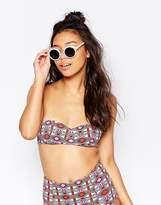 Monki Bandeau Shell Print Bikini Top