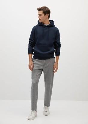 MANGO MAN - Kangaroo plush sweatshirt navy - S - Men