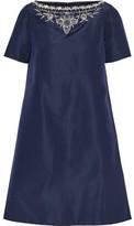 Oscar de la Renta Embellished Silk-faille Mini Dress