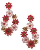 Anne Klein Crystal-Embellished Floral Drop Earrings