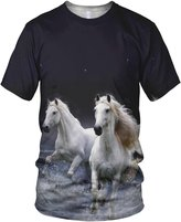 alloverprint.it All Over 3D Print Wild Horses Fashion Ladies T Shirt