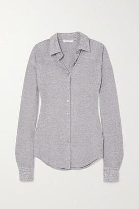Rag & Bone Ribbed Melange Stretch-knit Shirt - Light gray