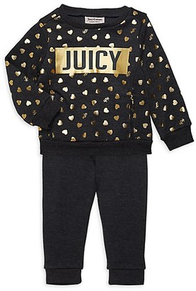 Juicy Couture Baby Girl's 2-Piece Sweatshirt Pants Set