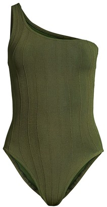 Hunza G Nancy Nile One-Shoulder One-Piece Swimsuit