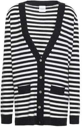 Madeleine Thompson Serpentine Striped Wool And Cashmere-blend Cardigan