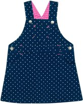 Jo-Jo JoJo Maman Bebe Dotty Overall Dress (Toddler) - Navy/White Dot-3-4