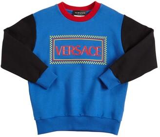 Versace Cotton Sweatshirt W/ Rubberized Logo