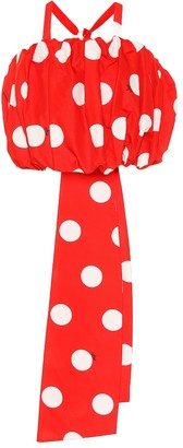 MSGM Polka-dot cotton blouse