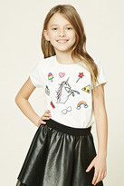 Forever 21 FOREVER 21+ Girls Patch Graphic Tee (Kids)