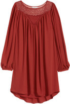 H&M Dress with Lace - Rust red - Ladies