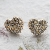 Sylvie Anusha Cluster Diamante Heart Stud Earrings