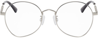 McQ Silver Round Metal Glasses