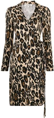 Dvf Diane Von Furstenberg Leopard Print Shirt Dress