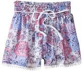 Ella Moss Izzy Printed Chiffon Shorts (Big Kids)