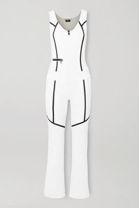 Bogner Terri Striped Stretch Ski Suit - White