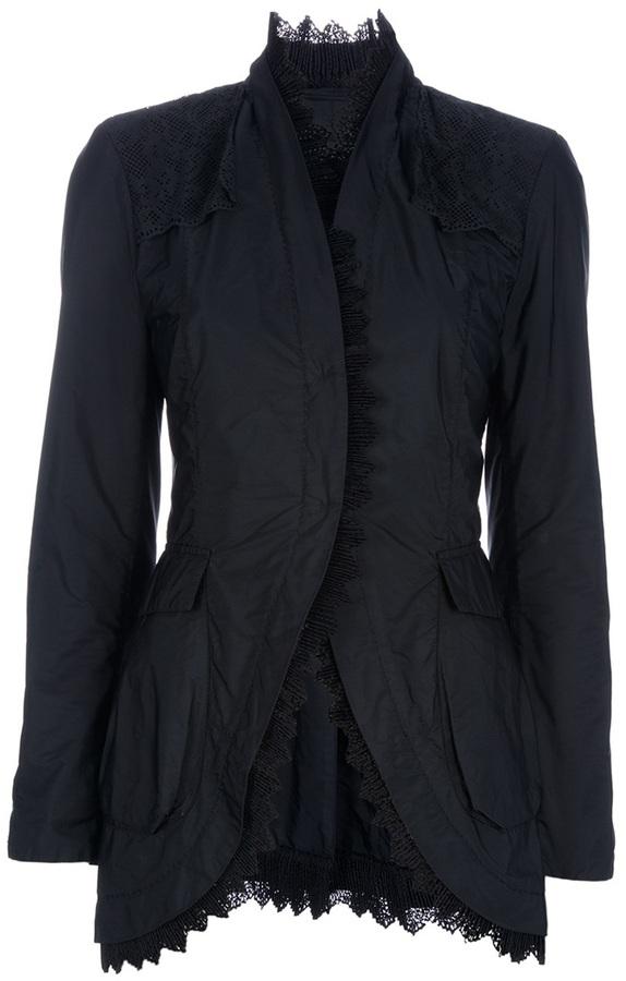 Ermanno Scervino Lace trimmed jacket