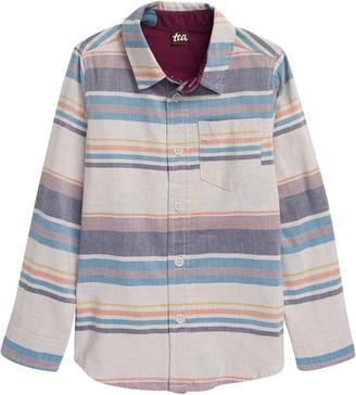 Tea Collection Double Weave Button-Up Shirt